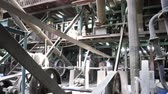 industry : joint of old machine working by water steam engine in agricultural factory