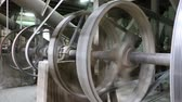 совместный : joint of old machine working by water steam engine in agricultural factory