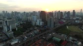 residência : aerial view of skyscraper in heart of bangkok thailand capital Stock Footage