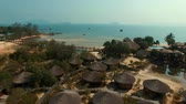 topo : aerial view of koh payam island beautiful destination in southern of thailand