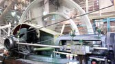 roda : old machine working by water steam engine in agricultural factory