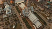 aerial view church of wat sothorn temple important religion landmark of thailand
