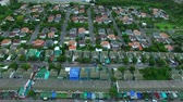 aerial view of home village in thailand use for land development and property real estate business Vídeos