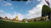 turizm : time lapse grand palace important traveling destination in bangkok thailand