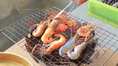 огонь : grilled fresh water shrimp