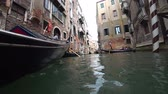 tekne : Venice, Italy-July 25, 2018: View of Venice from a gondola