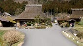 Kyoto,Japan-February 24, 2020: Miyamas ThatChed Village (Kayabuki no Sato) in, Kyoto 무비클립
