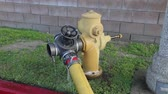 Fire Hydrant Pumping Water During Emergency