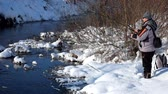 рыбаки : Open water fishing in winter. Spinning fishing in winter