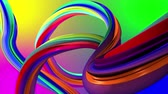 floreios : Moving colorful of abstract lines. Rainbow background Vídeos