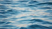 метеорология : Close up of disturbed blue ocean water surface. Slow motion