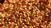 mix : Mix of spices: red black white green hot pepper
