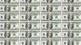 sheets : Sheet of 100 dollar bills moving downwards. Looped. Stock Footage