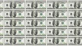 sheets : Sheet of 100 dollar bills moving from left to right. Looped. Stock Footage