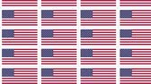 американский флаг : Sheet of postcards with national flag of USA. Sate symbol of United States nation and government. Seamless loop.