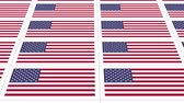 sheets : Sheet of postcards with national flag of USA. Sate symbol of United States nation and government. Seamless loop.
