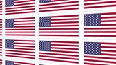 американский флаг : Sheet of postcards with national flag of USA. Sate symbol of United States nation and government.