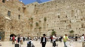 yarmulke : Jerusalem, Israel - May 25, 2017: Western Wall also known as Wailing Wall or Kotel in Jerusalem. The Western Wall is the most sacred place for all christians jews and jewish people in the world.
