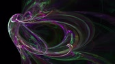 neural network : Colorful galaxy pattern abstract background seamless loop. Suitable for horizontal and vertical video format.