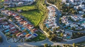 cypriot : Birds eye view of Pissouri, a village between Limassol and Paphos. Limassol District, Cyprus. Stock Footage