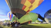 gorąco : 4K timelapse of Temecula hot air ballon festival, California