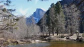 yosemite : The Famous Half Dome at Yosemite National Park around February