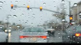 miséria : 4K video of driving in the rain at Los Angeles, Calfornia Stock Footage