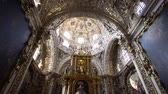 rosário : Puebla, FEB 19: Interior pan view of The historical church - Rosary Chapel of Iglesia de Santo Domingo on FEB 19, 2017 at Cholua, Puebla, Mexico