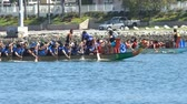 evenementen : Long Beach, APR 23: Dragon Boat Festival op APR 23, 2017 in Long Beach, Californië Stockvideo