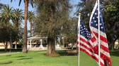 bayrak : American flag swinging at Temple City Park, Los Angeles, California, United States