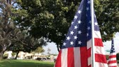 американский флаг : American flag swinging at Temple City Park, Los Angeles, California, United States