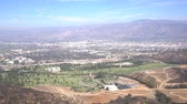 burbank : Aerial view of Burbank cityscape, from Hollywood sign trail, California, United States