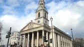 spojené království : London, APR 15: Exterior view of the St Martin-in-the-Fields church on APR 15, 2018 at London, United Kingdom