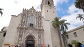 recreativo : San Diego, JUN 27: San Diego Museum of Men in the historical Balboa Park on JUN 27, 2018 at San Diego, California Stock Footage