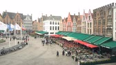 houpavý : Brugge, APR 28: Timelapse video of the Brugger center Market Place on APR 28, 2018 at Brugge, Beligum