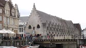 tőke : Ghent, APR 28: Beautiful cityscape and Leie river on APR 28, 2018 at Ghent, Belgium