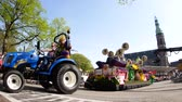 tulipan : Netherlands, APR 21: The beautiful and colorful flower parade on APR 21, 2018 at Netherlands