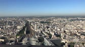 gare : Morning aerial footage of the famous Gare Vaugirard train station and downtown citypscape at Paris, France