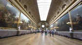 paryż : France, MAY 7: Interior view of the famous Palace of Versailles on MAY 7, 2018 at Paris, France Wideo