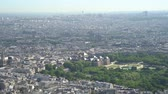 paryż : Morning aerial footage of  downtown citypscape at France Wideo