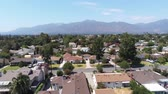 arcadia : Aerial view of Arcadia with San Gabriel Mountain view Stock Footage