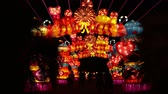 představení : Los Angeles, NOV 21: Beautiful colorful lantern of Moonlight Forest Festival on NOV 21, 2018 at Los Angeles