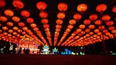 night time : Los Angeles, NOV 21: Beautiful colorful lantern of Moonlight Forest Festival on NOV 21, 2018 at Los Angeles
