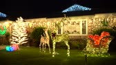 fullerton : Brea, DEC 4: Beautiful christmas decoration on DEC 4, 2018 at Brea Neighborhood, Los Angels County, California