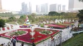 filme : Macau, DEC 24: Afternoon view of the famous Casas da Taipa with many flowers blossom on DEC 24, 2018 at Macau