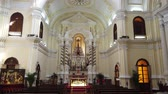 ibadet : Macau, DEC 24: Interior view of the famous Chapel of St. Joseph Seminary on DEC 24, 2018 at Macau