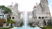 действие : Toronto, SEP 29: Exterior view of the famous Casa Loma on SEP 29, 2018 at Toronto, Canada Стоковые видеозаписи