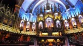 gotický : Quebec, OCT 2: Basilique Notre-dame De Montreal on OCT 2, 2018 at Quebec, Canada