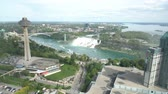 hostující : Aerial view of the Skylon Tower and the beautiful Niagara Falls at Canada