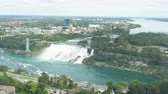 niagara : Aerial view of the Skylon Tower and the beautiful Niagara Falls at Canada
